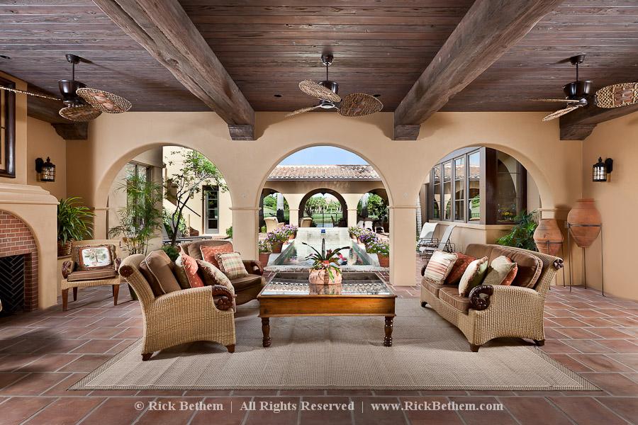 Hacienda style homes interior